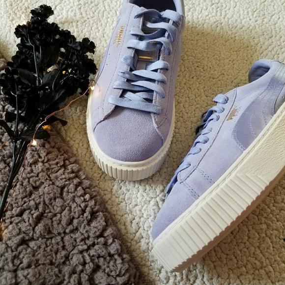 da8b1e7318b NWT Puma Lavender Suede Platform Shoes